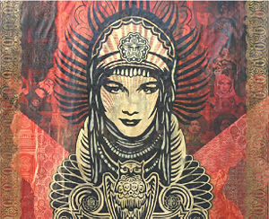 Peace Goddess Mural Canvas Fine Art Piece